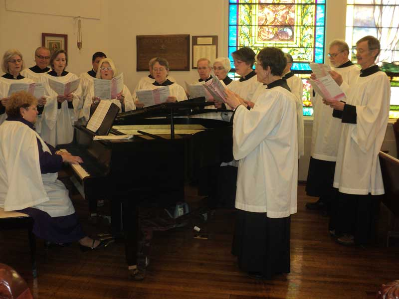 Easter Choir at Christ Episcopal Church in La Crosse, WI