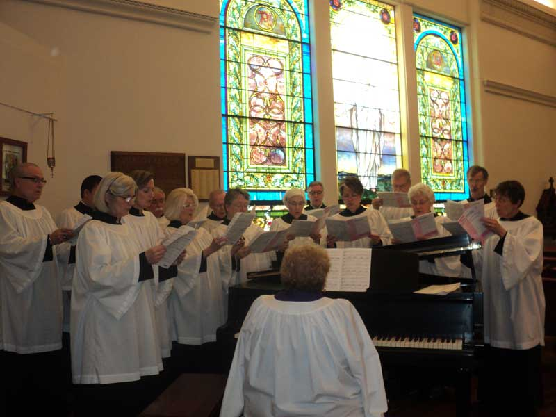 Choir at Christ Episcopal Church in La Crosse, WI